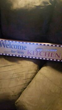 brown Welcome to my Kitchen signage