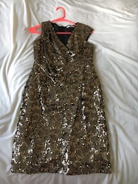 Gold sequined Oasis dress size S