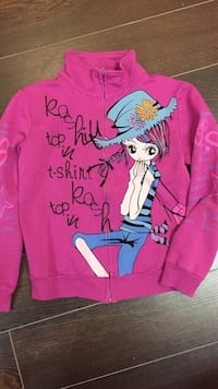 Girls full zip up size 10 youth