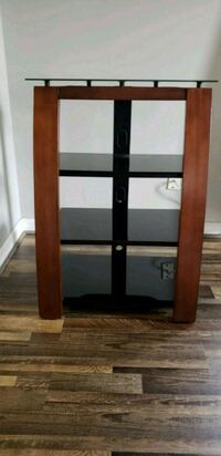 brown wooden framed glass display cabinet Bowie, 20715