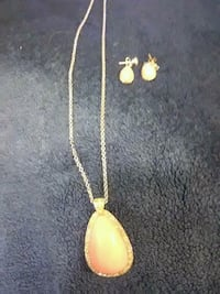 gold chain necklace with yellow gemstone pendant Chico, 95926