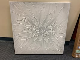 White flower canvas