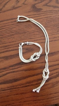Silver Necklace and matching Bracelet  Drummond/North Elmsley, K7H