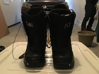 Pair of black Borton snowboard boots, size 7.5, slightly used.  New Westminster