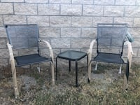 Brand New Chairs and Used Patio Table