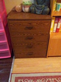 brown wooden 4-drawer chest Calgary, T3E 2W7