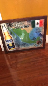 brown wooden framed Mexico map Los Angeles, 90063