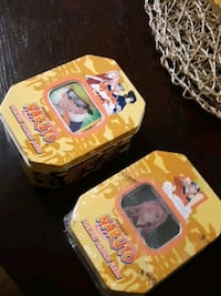 Naruto trading cards brand new tins