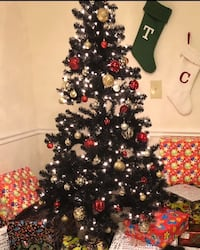 6ft black Christmas tree & ornaments  Upper Marlboro, 20774