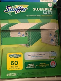 Swifter wet mop wipes new & mop hardly used $15 Falls Church, 22042