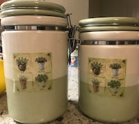 2 kitchen jars Phoenix