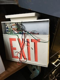 Exit sign  as is Pickering, L1V
