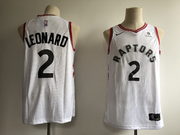 pretty nice dc56d 2ab23 2019 Men Toronto Raptors 2 Leonard white Game NBA Nike Jerseys
