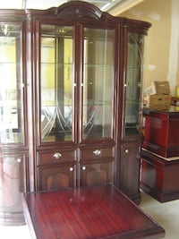 ((((( DEAL OF THE DAY ALL FOR $300.00 ))))) MUST PICK UP ASAP ITALIAN STYLE CHERRY WOOD HUTCH AND 3 PIECE COFFEE TABLE SET ALL FOR $300 FIRM! Mississauga