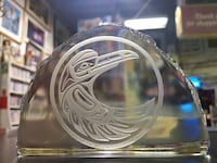 Native Glass Paperweight Eagle $175 New Westminster, V3M 1E8