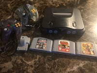 N64 with controllers and games  Toronto, M8V 0E3