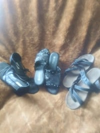 3 pairs of Comfy BLACK shoes size 9 all 3 pairs asking $2 West Palm Beach, 33417