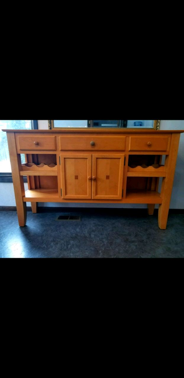 used dining room buffet cabinet with wine rack for sale in anchorage rh us letgo com