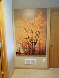Canvas painting fall trees Zimmerman, 55398