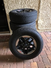 Jeep Wrangler Rubi Rims tires like new low miles $600 OBO Tampa, 33609