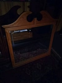 """Solid oak 38"""" by 32 """" mirror  White Haven, 18661"""