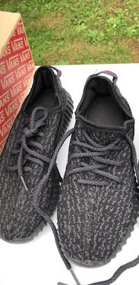 Pair of black adidas yeezy boost 350 Riverview Park, 19605
