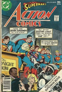 "Action Comics #474 ""Seven Supermen On This Stage Grade - reader grade +++++++++++++++++++++++++++++ Pick-up in Newmarket"