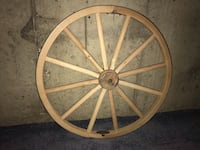 "Amish handmade Hickory Wood spoke wagon wheel 36"" Hamden, 06514"