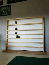 Hobby paint display shelf