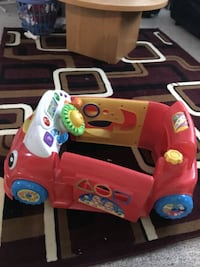 baby's red, yellow, and white car learning walker Winnipeg, R2R 1P2