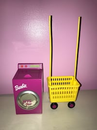 Barbie doll spinning washer dryer with rolling cart Fall River, 02720