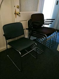two black metal framed armchairs Concord, 94519