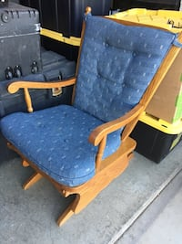 blue and brown wooden armchair Anaheim, 92808