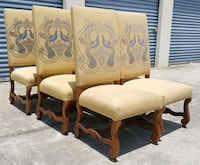 (6) Large High Back Dinning Chairs w/Peacock Desig Orlando, 32811