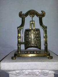 Asian Brass Bell/gong with mini hammer Magna