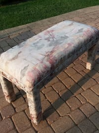 Floral fabric padded ottoman