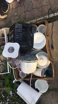 Toaster, coffee pot, a few dishes. Great for college dorm. Must pick up. West Mifflin