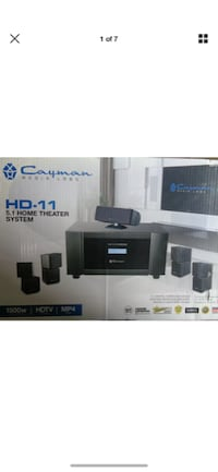 Cayman Media Labs HD-11  5.1 Home Theater Surround Sound System 1500W