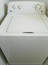 white Kenmore top-load clothes washer