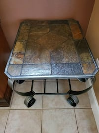 Slate Tables with Metal Legs