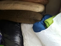 assorted pillows and blankets