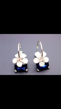 Blue Flower Earrings Vancouver, V5R