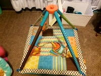 baby's blue and orange activity gym Hope Hull, 36043