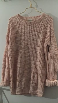 Women's light pink knitted sweater Montreal, H4P