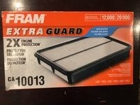 Fram Extra Guard Air Filter, CA10094 for Honda and Acura Owings Mills, 21117