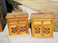 two brown wooden side tables La Habra, 90631