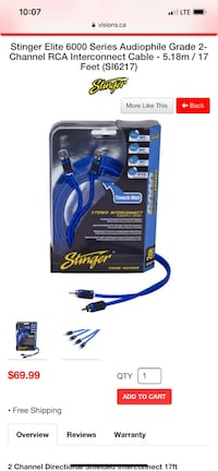 Stinger RCA cable