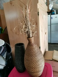 brown and white wicker vase Madera, 93637