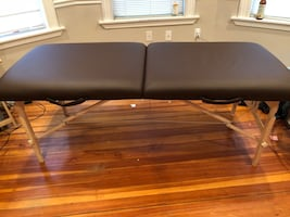 Brown massage table