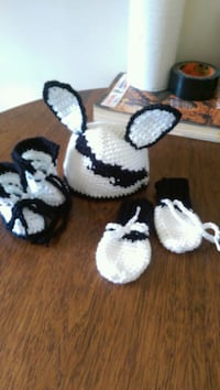 three pairs of white and black knitted shoes Edmonton, T5M 1J9